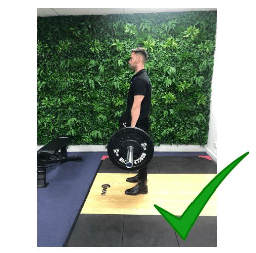 4 Correct Deadllift Standing Position