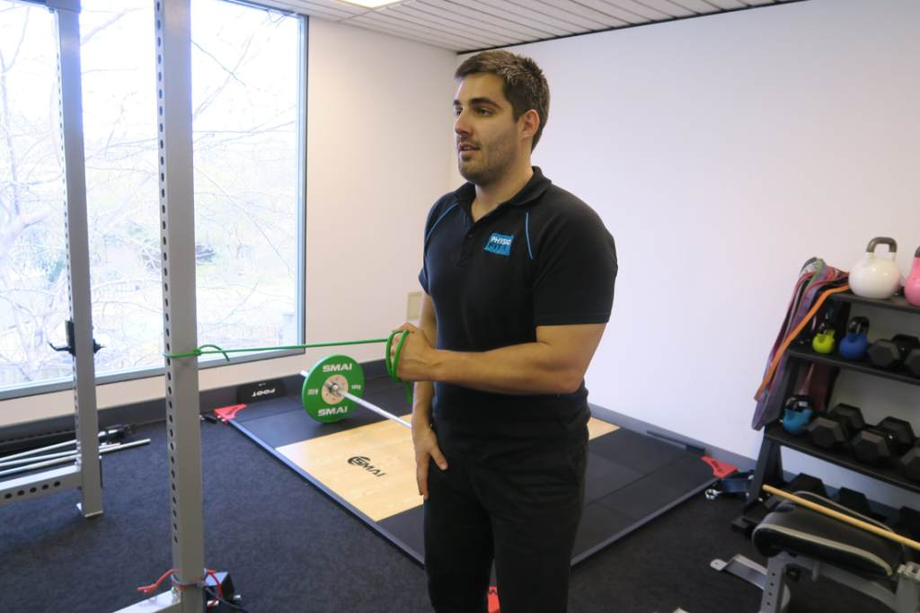Band Shoulder External Rotation Exercise Start
