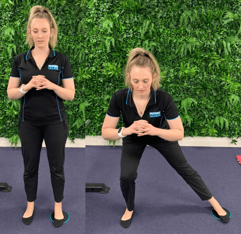 Groin Pain Adductor Slides Exercise