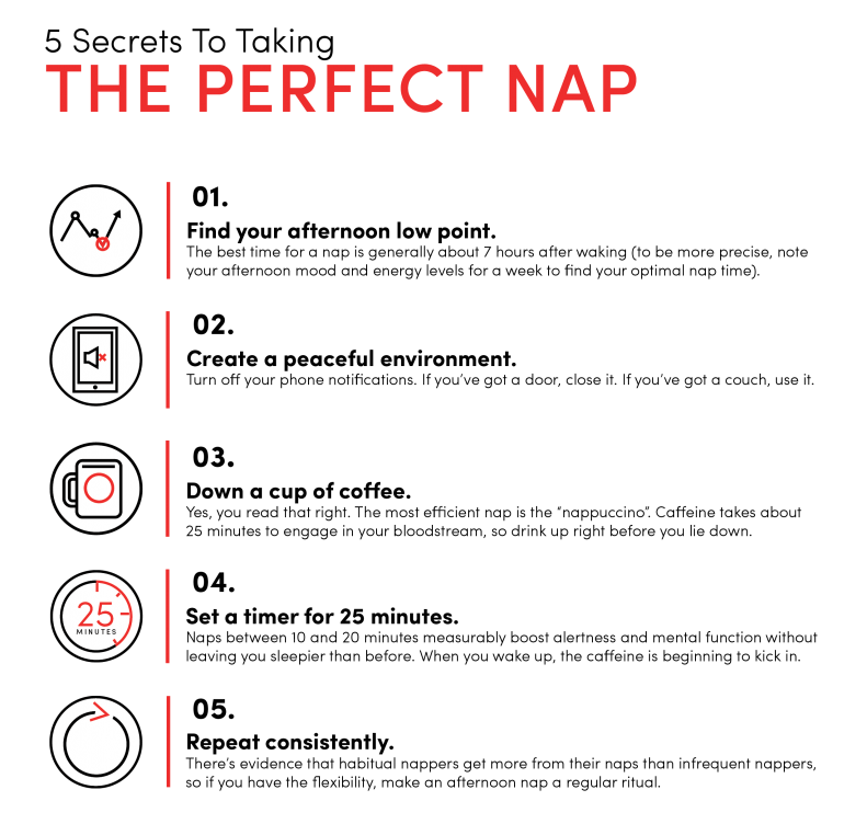 Secrets To Taking The Perfect Nap For Health