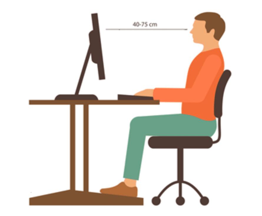 Sitting Posture Computer Screen