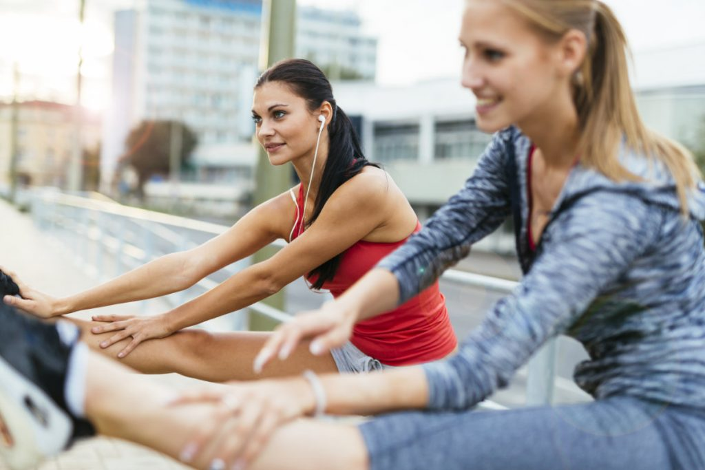 Women Stretching Outdoor